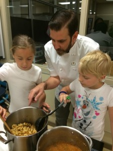 chef-brock-bowes-making-pasta-and-sauce-at-glenrosa-elementary